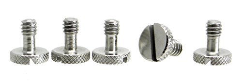 "Steel Screws 1/4"" Tripod Quick Release QR Plate Camera Flath"