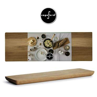- Sagaform Deluxe Oak Wood Cutting Board - Elegant Serving Platter Tray - Durable and Smooth Surface - for Kitchen, Dining Room or Restaurant