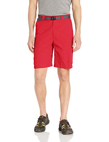 Columbia Men's Silver Ridge Cargo Short, Breathable, UPF 50 Sun Protection, Sunset Red, 36 x 12