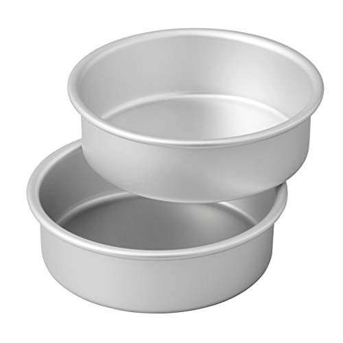 Wilton Small and Tall Aluminum Cake Pans, 2-Piece - Layer Cake Pan Set