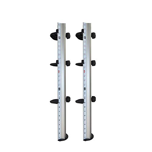FastCap - Slide Pro Hands-Free Installation System with Tension Knobs and Adjustment Shelf - 2-Pack - 2257