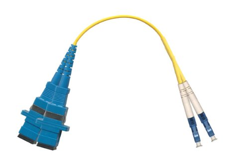 1ft Fiber Optic Adapter Cable LC (Male) to SC (Female) Singlemode 9/125 Duplex