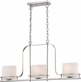 (Nuvo Lighting Nuvo Loren 3-Light 60-Watt Polished-Nickel Pendant)
