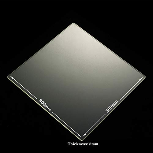 Borosilicate Glass Build Plate Square for 3D Printer Heated Bed RepRap/CTC/ANET (300x300x5mm)