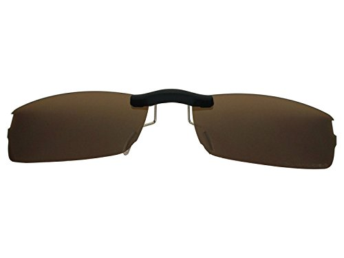 Custom Fit Polarized CLIP-ON Sunglasses For Oakley Halfshock OX3119 55X19 Brown by COODY