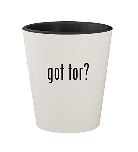 got tor? - Ceramic White Outer & Black Inner 1.5oz Shot Glass (Kits Drum Download)