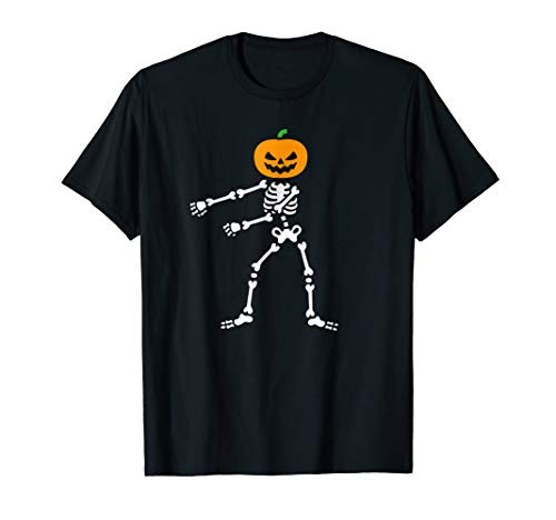 Flossing Pumpkin Head Skeleton Floss Dance Halloween T-shirt ()