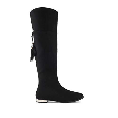 In Andres Suede Sizes large Machado Am4099 Nero Flat Dimensioni Piatto Machado large Black Suede Camoscio Boots Di Stivali Am4099 Suede Andres 8qIFw