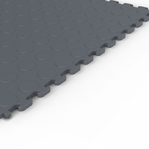 Norsk NSMPRC6DG Raised Coin Multi-Purpose PVC Flooring, Dove Gray, 6-Pack