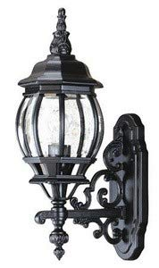Acclaim Lighting 5150BK Chateau - One Light Outdoor Wall Mount, Matte Black Finish with Clear Beveled Glass