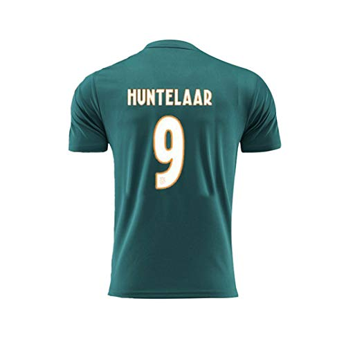 Ajax Jersey AJAX Home Short Sleeved Away Adult Children Huntelaar#9 Make Your OWN Jersey T Shirts Custom Cotton Jerseys for Women (Color : Green, Size : L)