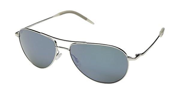 1c9ee781132 Amazon.com  Oliver Peoples Unisex Benedict Silver Blue Diamond Mirror One  Size  Clothing