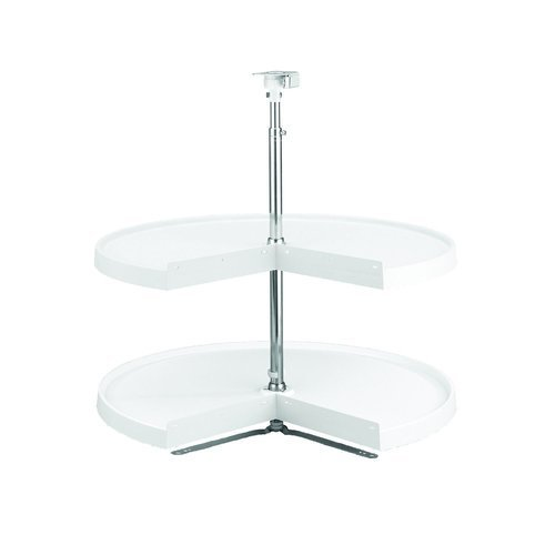 Rev-A-Shelf 6942-28-52 RAS Polymer 28 Pie-Cut Lazy Susan 2 Shelf Set, White by Rev-A-Shelf