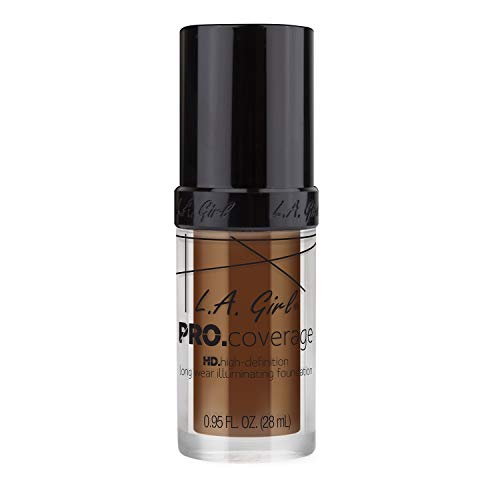 L.A. Girl Pro Coverage Liquid Foundation, Rich Cocoa, 0.95 Fluid Ounce ()