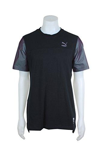 PUMA Men's Color Block Image Tee Black/Color Shift T-Shirt