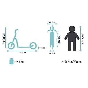 BIKESTAR Trottinette Enfant 2 Roues pour Garcons et Filles de 6-10 Ans Patinette Enfant 12 Pouces Sportif