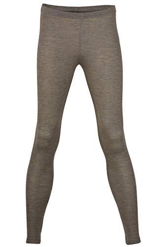 (EcoAble Apparel Women's Thermal Leggings Pants Base Layer, Organic Merino Wool Silk Blend (42-44 / Medium, Walnut))