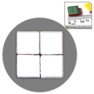 Unbekannt Mosaico de Minis (10 x 10 x 3 mm), 1000 Unidades, Blanco ...