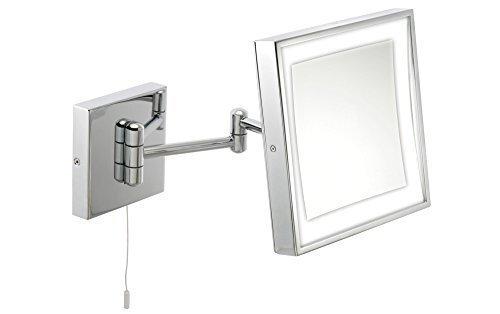 x3 Magnification Wall Mounted 'Retro' Illuminated LED Mirror Famego