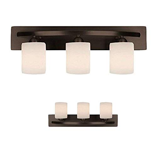 WholesalePlumbing 3 Bulb Vanity Light Fixture Bath Interior Lighting, Oil Rubbed Bronze (Oil Rubbed Bronze)