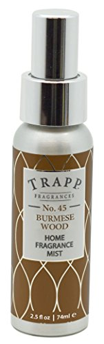 Trapp Candles Home Fragrance Mist, No. 45 Burmese Wood, 2.5-Ounce (Burmese Wood Candle)