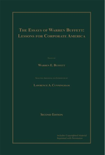 The essays of warren buffett lessons for corporate america