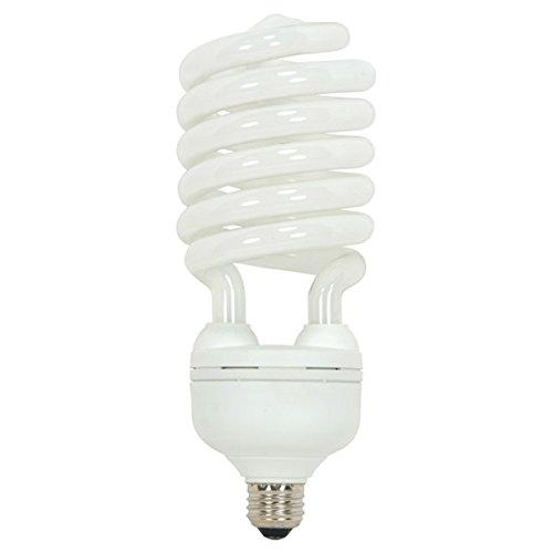 (Pack of 12) Satco S7386, 65 Watt (300 Watt) 4300 Lumens Hi-Pro Spiral CFL Natural White 5000K Medium Base 120 Volt Light Bulb, Compact Fluorescent Bulb
