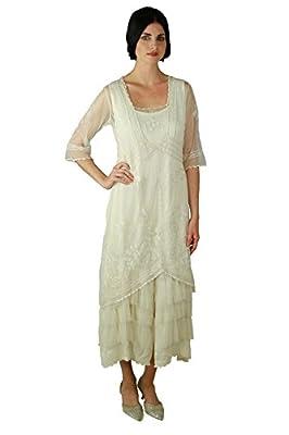 Nataya 2101 Women's Titanic Vintage Style Ivory Wedding Dress