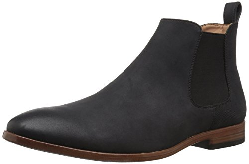 Mens Black Suede Boot - Madden Men's M-Grasp Chelsea Boot, Black Suede, 11 M US