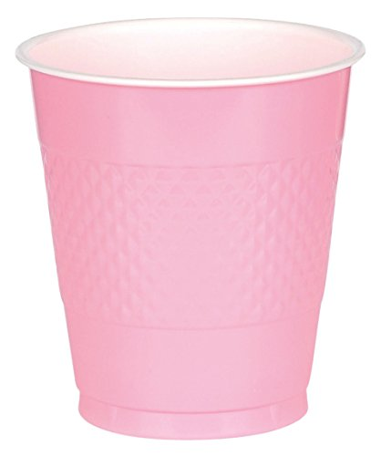 Amscan Reusable New Pink Plastic Cups, 12 Oz., 20 Ct. | Party Tableware