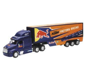 New Ray Toys 1:32 Scale Racing Rig Die-Cast Replica Red Bull KTM Transporter Truck 14393 ()