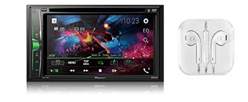 (Pioneer AVH-210EX Double DIN Bluetooth In-Dash DVD/CD AM/FM Front USB Digital Media Car Stereo Receiver 6.2