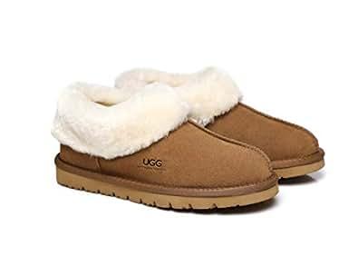 UGG Slippers,Australia Premium Sheepskin,Unisex Homey Moccasins #15545
