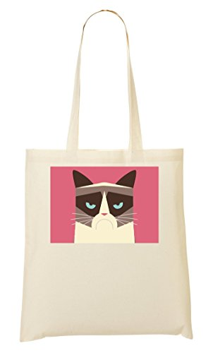 Cat Grumpy Sacchetto Di Tote Abstract Fddrqxwv4C