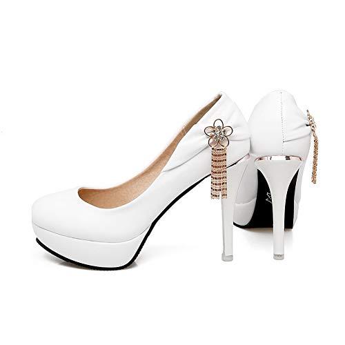 Blanc Femme Blanc DGU00640 Sandales AN Compensées 36 5 EU tpInw