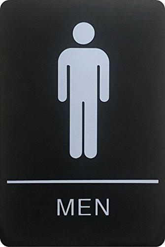 Braille - Cartel de baño oficial con cinta adhesiva de doble cara 3M en la parte trasera