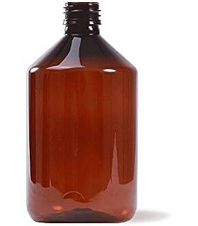 Botella plástico 500 ml color ÁMBAR uso Farmacéutico y Alimentario - Tarifa Plana envíos