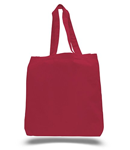 [100% Cotton Canvas Reusable Grocery Bags by BagzDepot (24 Pack, Red)] (100% Cotton Canvas Bag)