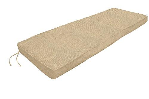 Amazon Custom Furnishings x Easy Way Products 20680 Custom Zipped Double Piped Bench Cushion, 44