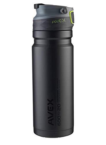 Avex Recharge Autoseal Stainless Steel Tumbler, Black, 600 mL/20 oz