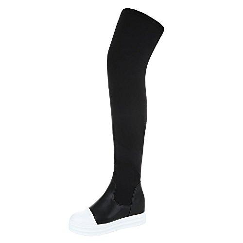 Wedge Schwarz Design Ital Overknee Stiefel Stiefel Reißverschluss 35 Stiefel 299 Keilabsatz Damenschuhe Klassischer Sportliche c0wpqSWRw