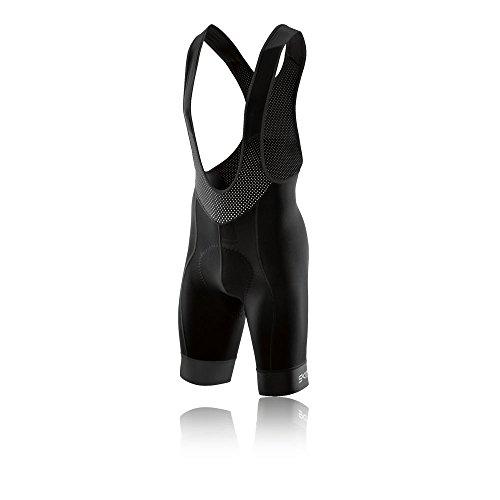 Skins Men's Dynamic Cycle Compression Bib Shorts, Black, Medium