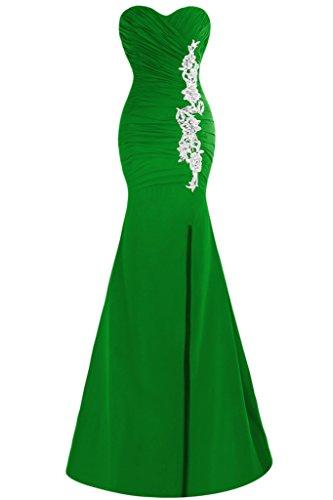 Ivydressing Abendkleid Ausschnitt Schlitz Mermaid Applikation Grün Damen Herz Promkleid Festkleid 7vwr7q
