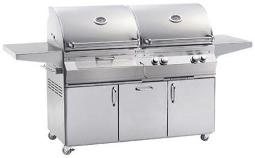 Fire Magic A830s6EAN61CB Aurora Gas/Charcoal Combo Portable Grill - Natural -
