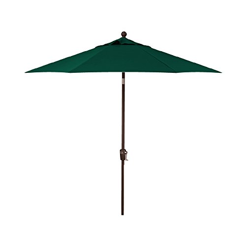 Treasure Garden 9-Foot (Model 810) Deluxe Auto-Tilt Market Umbrella with Bronze Frame and Obravia2 Fabric: Forest Green