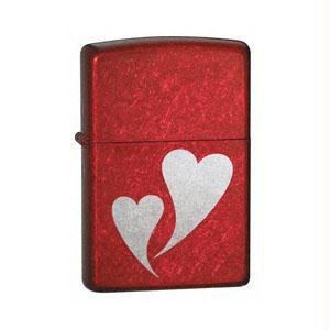Double Zippo Lighter Hearts (Zippo Candy Apple Red, Double Hearts)