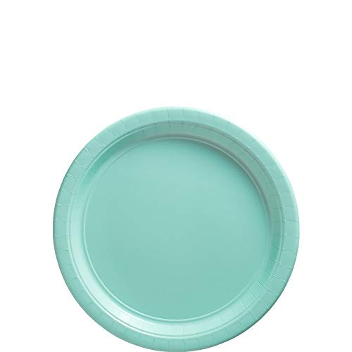 Amscan Robin's Egg Blue Paper Plate Big Party Pack, 50 Ct.]()