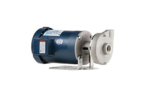 Price Pump CD100SS-450-21211-200-36-1T6 Close Coupled Horizontal and Vertical Centrifugal Pumps, 2 HP, Max 90 GPM, TEFC Motor Enclosed, 90 GSM Maximum Flow Rate, Stainless Steel