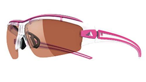adidas Evil Eye Halfrim Pro Xs Rectangular Sunglasses, Crystal Pink, 62 mm (Adidas Evil Eye Halfrim Pro)
