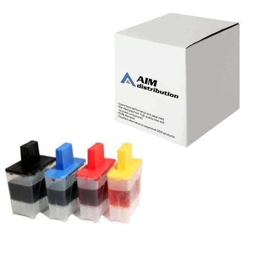 (AIM Compatible Replacement for Brother LC-41 Inkjet Combo Pack (BK/C/M/Y) (LC-41MP) - Generic)